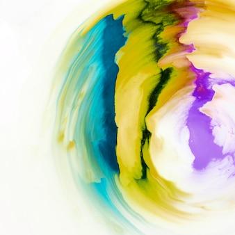 Patrón de diseño abstracto colorido dibujado sobre lienzo blanco