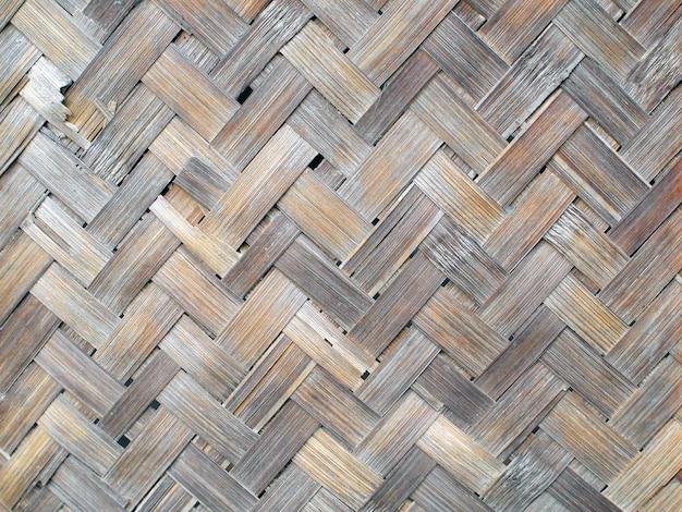 Patrón y diseño de artesanía de bambú estilo tailandés.