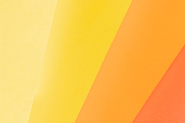 Patrón de endecha plana hecho de diferentes tonos de naranja.