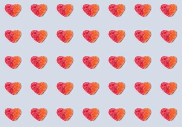 Patrón sin fisuras de corazones gomosos.