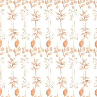 Patrón sin fisuras de hojas de otoño otoño, ramas naturales,