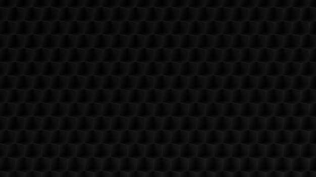 Patrón de fondo cúbico negro