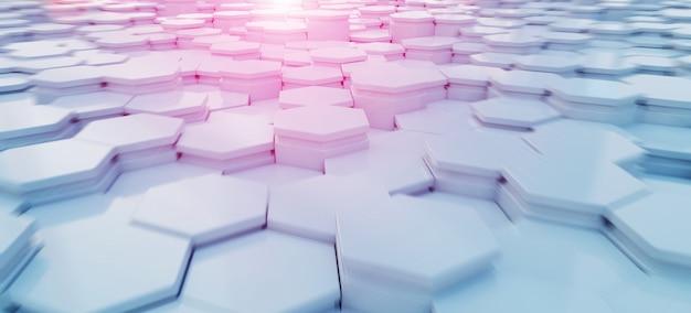 Patrón de fondo de hexágonos azul y rosa