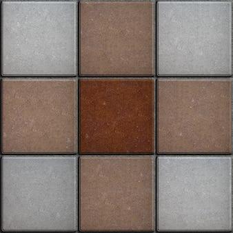 Patrón en forma de cruz de azulejos cuadrados.
