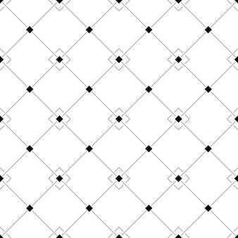 Patrón geométrico blanco y negro sin costuras en una celda oblicua con cuadrados