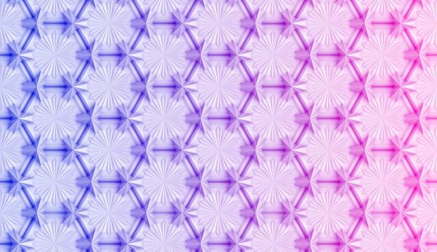 Patrón geométrico con degradado rosa y azul