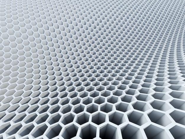 Patrón hexagonal 3d