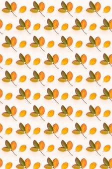 Patrón de hojas de otoño de color. imagen de fondo de otoño