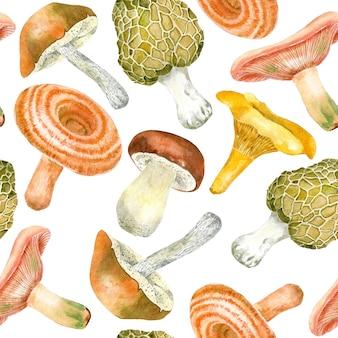 Patrón de hongos comestibles