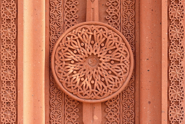 Patrón de khachkar en la pared