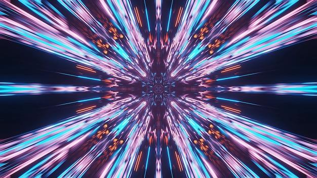 Patrón de mandala abstracto hermoso vivo para el fondo con colores azul, naranja y rosa