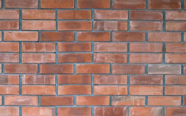 Patrón de mansonería de pared de ladrillo rojo brillante