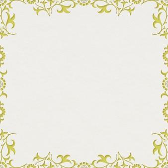 Patrón de marco de adorno floral de hojas vintage