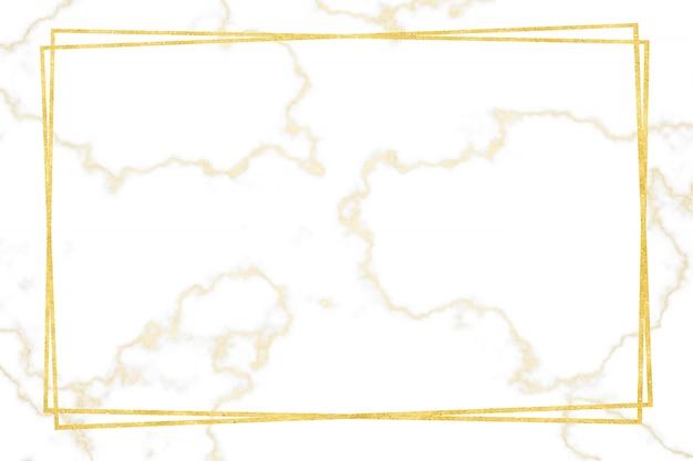Patrón de mármol blanco dorado con borde dorado y piso y azulejo de lujo en la pared interior