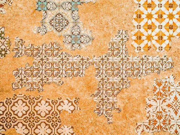 Patrón oriental con textura de mosaico étnico árabe