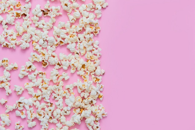 Patrón de palomitas de maíz en rosa