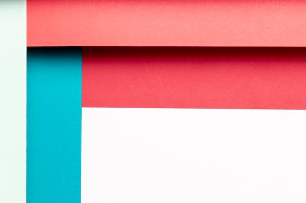 Patrón plano laico con diferentes tonos de colores.