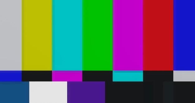 Patrón de prueba de barra de color de tv estática.
