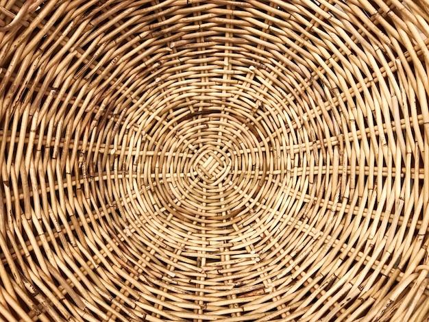 Patrón de ratán de madera tejida tradicional