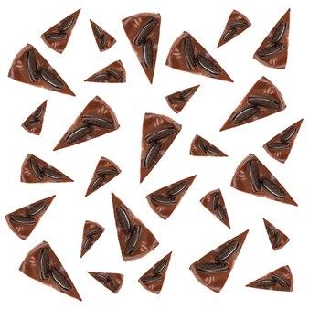 Patrón de tartas de chocolate con galletas
