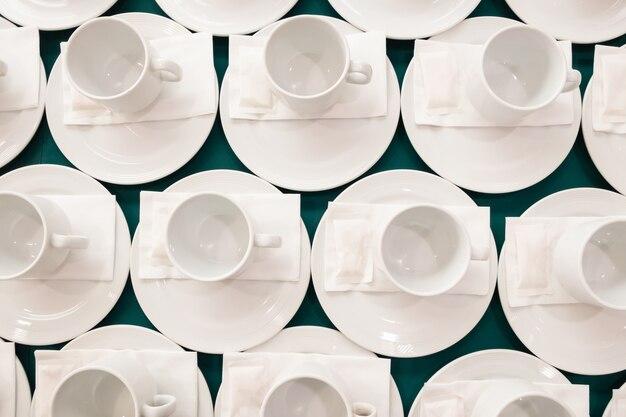 Patrón de la taza de café blanco.