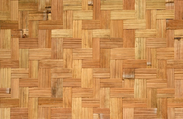 Patrón de tejido de bambú