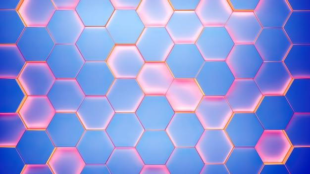 Patrón de textura de fondo hexagonal moderno
