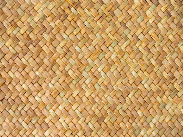 Patrón tradicional de textura de superficie de mimbre