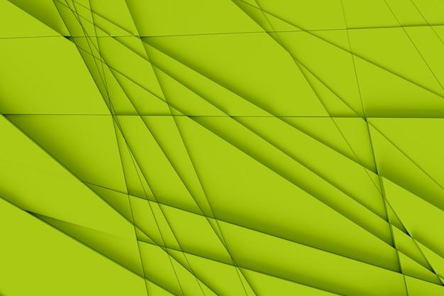 Patrón tridimensional de disección en muchos elementos triangulares individuales de la superficie