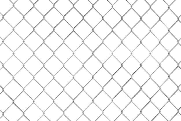 Patrón de valla con cable sobre un fondo blanco.