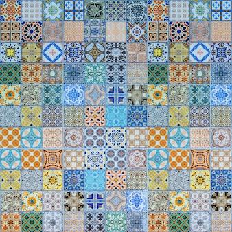 Patrones de azulejos de cerámica de portugal