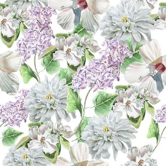 Patrones sin fisuras con flores
