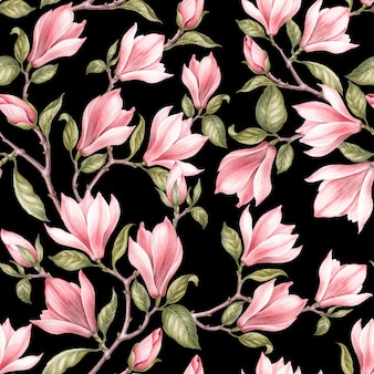 Patrones sin fisuras de magnolia.