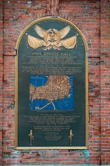 Paul revere memorial en boston, massachusetts, ee.uu.