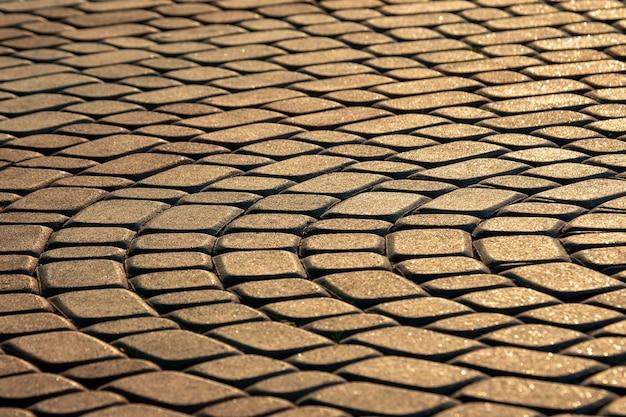 Pavimento de cerca a la luz del sol