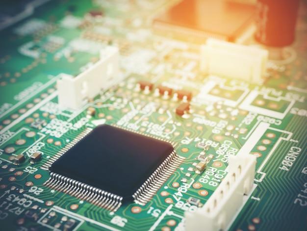 Pcb electrónico de alta tecnología (placa de circuito impreso) con tecnología de procesador de microchips