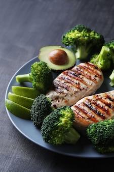 Pechuga de pollo a la plancha con brócoli