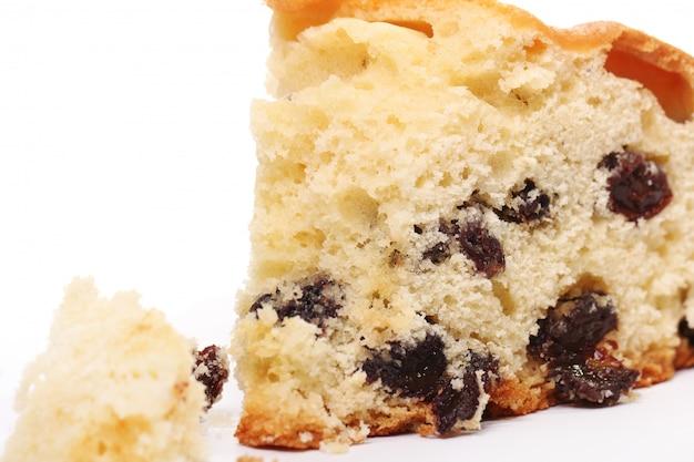 Pedazo de pastel fresco