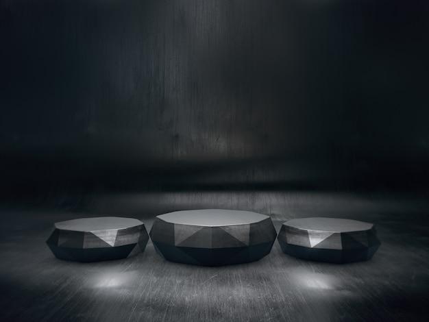 Pedestal abstracto para exhibición