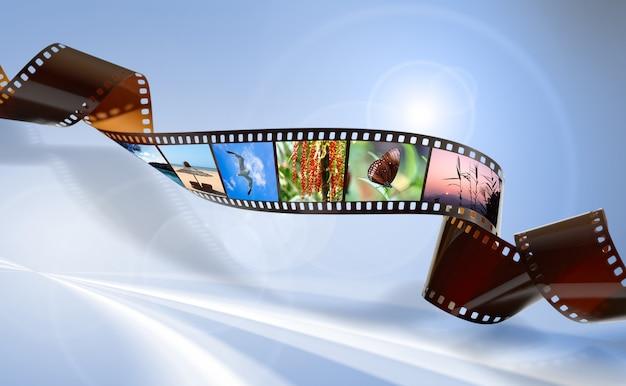 Película retorcida para grabación de foto o video.