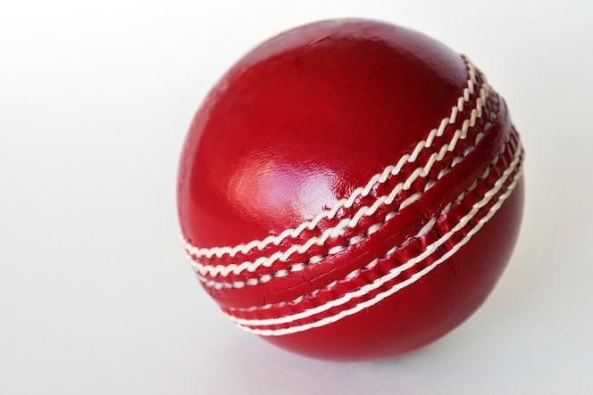 Pelota de cricket, aislado