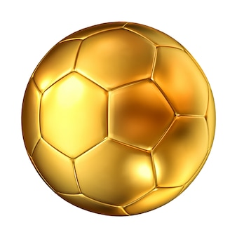 Pelota de futbol dorada