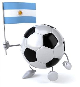Pelota de futbol - personaje 3d
