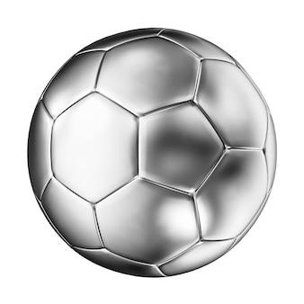 Pelota de futbol de plata