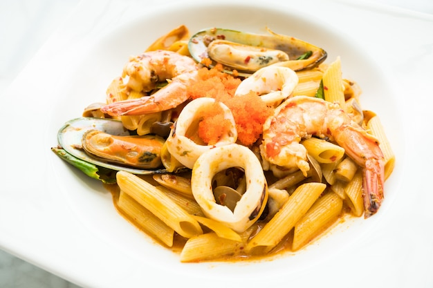 Penne marisco tom yum pasta