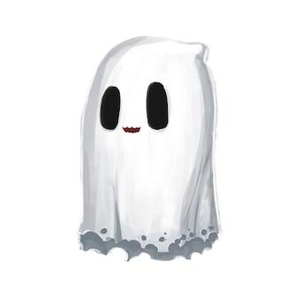 Pequeña ilustración linda del personaje fantasma