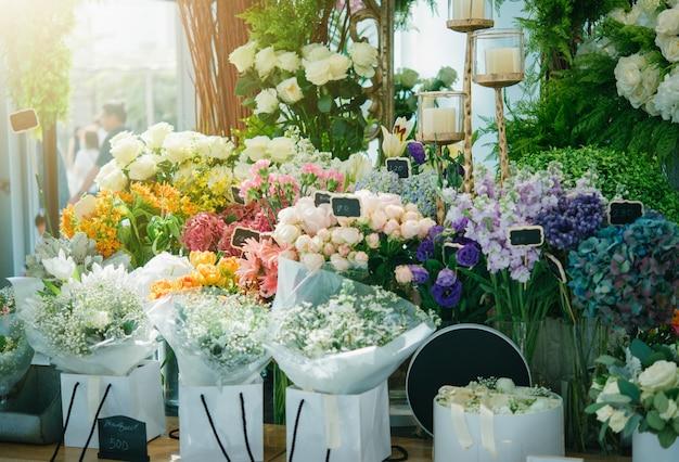 Una pequeña tienda de flores