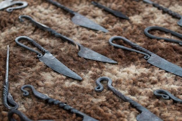 Pequeñas dagas medievales