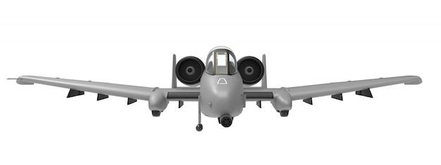Un pequeño avión militar.