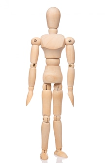Pequeño muñeco de madera